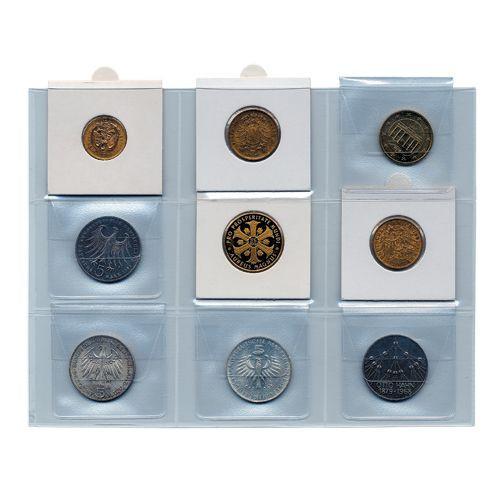 Folii pentru monede in cartonase