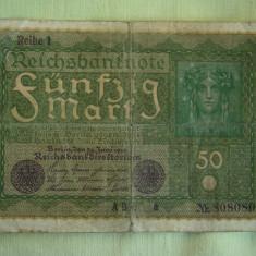 50 Mark / Marci 1919 GERMANIA Reihe 1 - Lot de 2 Bucati / 3