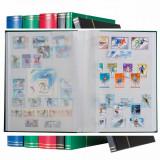 Clasor timbre format A5 cu opt file (16pagini) albe, albastru