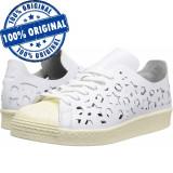 Pantofi sport Adidas Originals Superstar 80 Cut Out pentru femei - originali, 36, Alb, Piele naturala