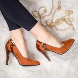 Pantofi Bacali camel eleganti -rl