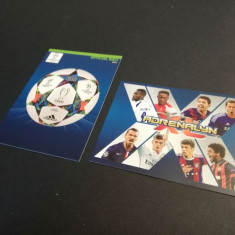 Base complet, speciale Porto, + 2 cartonase Panini Champions League 14-15 Update