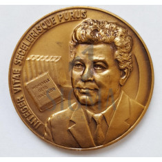 PROF. UNIV. DR. CONSTANTIN PREDA 1.XI.1995 - MEDALIE ANIVERSARA 70 DE ANI, PRESEDINTELE SOCIETATII NUMISMATICE ROMANE