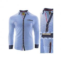 Camasa pentru barbati flex fit albastru deschis casual cu guler sedna zenith II