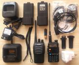 Statii PMR UHF VHF Baofeng UV5R cu antena Nagoya 701 si Baofeng 888s