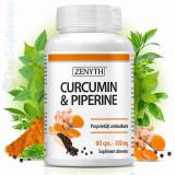 Curcuma Turmeric cu Piperina 60cps. (cancer, articulatii, ficat, creier) Zenyth