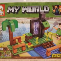 NOU/SIGILAT - Set de 140 piese tip lego Minecraft ELEPHANT B