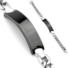 Lanț de mână din oțel inoxidabil - placă neagră