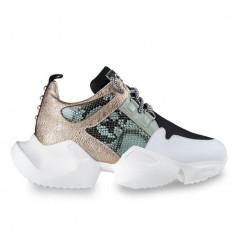 Sneakersi Mihai Albu Wild Green din piele naturala