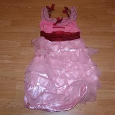 costum carnaval serbare rochie dans flamengo pentru copii de 7-8 ani