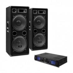 "Electronic-Star DJ SET ""DJ 20"" PA boxe-amplificator-cablu 2000 W"