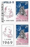 Apollo 11, 1969 (bloc de 2 cu viniete) - NEOBLITERAT, Spatiu, Nestampilat