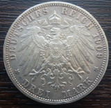 (A719) MONEDA DIN ARGINT GERMANIA, PRUSIA - 3 MARK 1909, LIT. A, WILHELM II, Europa