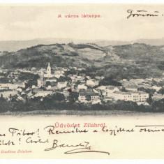 5084 - ZALAU, Panorama, Litho, Romania - old postcard - used - 1903