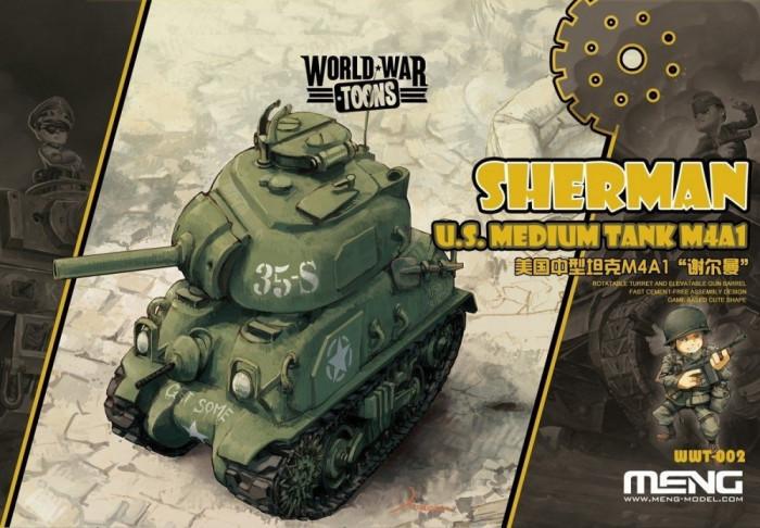 U.S. Medium Tank M4A1 Sherman - snap-fit