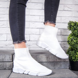 Pantofi sport dama albi Nolisa