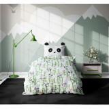 Set 3 piese lenjerie pat copii Viada Panda, 150 x 200 cm