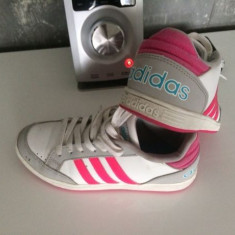 Adidas copii -33, 33,5 cm- ADIDASI roz,pantofi sport- din piele