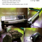 Lampa,  fitru Nano Cub Dennerle, Pompa aer, roci vulcanice, Tetra