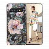 Cumpara ieftin Carcasa Husa Samsung Galaxy S10 model Flower, Antisoc + Folie protectie Samsung Galaxy S10 Viceversa