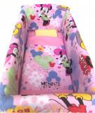 Cumpara ieftin Lenjerie de patut bebelusi 120x60 cm cu aparatori Maxi Deseda Minnie Mouse