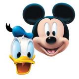Masti copii pentru petrecere Mickey Mouse & Donald Duck, Amscan 994161, set 4 buc