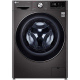 Masina de spalat rufe LG F4WV910P2S, 10.5 kg, 1400 RPM, Clasa A+++, Motor Direct Drive, Turbo Wash 360, Steam +, Smart Diganosis, WiFi, Negru