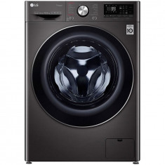 Masina de spalat rufe LG F4WV910P2S, 10.5 kg, 1400 RPM, Clasa A+++, Motor Direct Drive, Turbo Wash 360, Steam +, Smart Diganosis, WiFi, Negru
