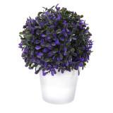 Cumpara ieftin Planta artificiala verde cu mov inchis 20cm in ghiveci