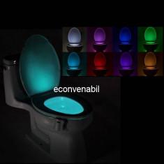 Lampa Luminoasa Vas Toaleta cu LED si Senzor de Lumina Lightbowl