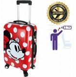 Cumpara ieftin Troler cabina Disney, 50 x 34 x 21 cm, geamantan Love Mickey, rosu-alb