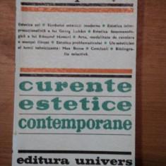 CURENTE ESTETICE CONTEMPORANE-MARCEL PETRISOR BUCURESTI 1972