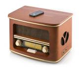 Radio Retro Vintage, Carcasa Lemn, CD, USB, AUX, Putere 19W, CR 1109