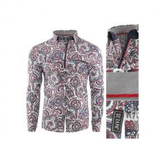 Camasa pentru barbati rosu Flexfit casual cu guler Latin Soul