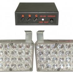 Stroboscop cu LED, lumina rosu-albastru, 96 LED-uri - 118099
