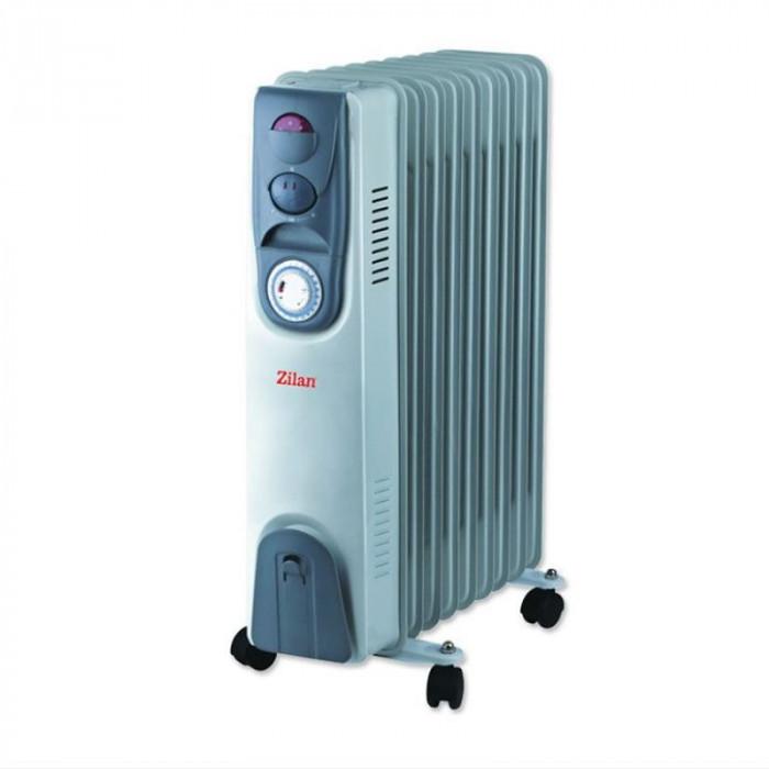 Calorifer electric cu timer Zilan ZLN9232, 11 elementi, 2500 W, 3 trepte, termostat