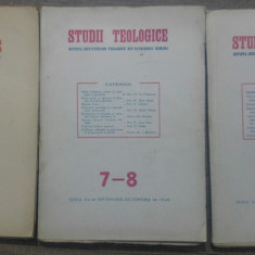 Studii teologice, revista institutelor teologice// 1949, nr 5-10