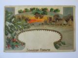 Carte postala Sarbatori Fericite circulata 1930