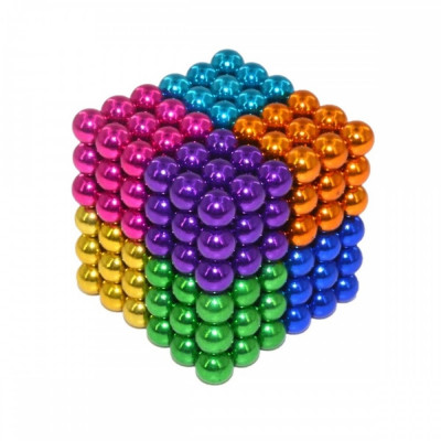 Neocube 216 bile magnetice 5mm, joc puzzle, 8 culori (multicolor) foto