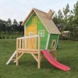 Casuta gradina pentru copii lemn EXIT Fantasia 300 Green