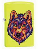 Cumpara ieftin Brichetă Zippo 29639 Neon Wolf Neon Yellow