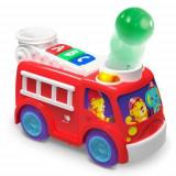 Masina de Pompieri cu Lumini si Sunete Hab Roll & Pop, Bright Starts