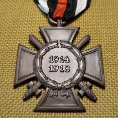 1914 1918 Crucea de Onoare Hindenburg Medalie Germania WW1 veche germana CP