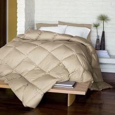 Pilota matlasata umpluta cu lana, pentru iarna, bumbac satinat, Bej, 210x230 cm