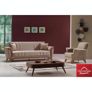 Canapea textensibila Torino cu doua fotolii 244x85x90