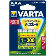 Set 4 Acumulatori AAA Ready To Use 1000 mAh