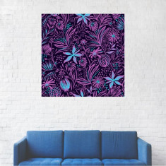 Tablou Canvas, Flori mov - 20 x 20 cm