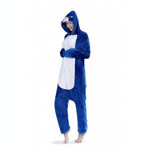 PJM57-441 Pijama intreaga kigurumi, model rechin albastru