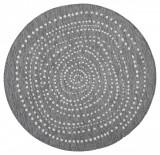 Covor Modern & Geometric Twin, Rotund, Gri, 140x140, Bougari