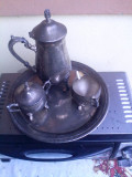 Set Englezesc pentru Ceai Alama argintata